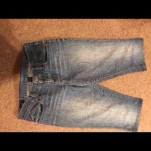 Abercrombie & Fitch Blue Jean capris.